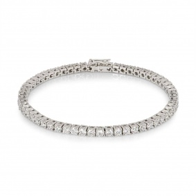 White Gold Diamond Line Bracelet 5.93ct